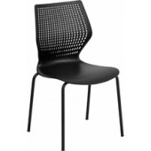 Designer Black Stack Chair