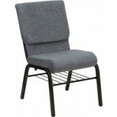 Gray Fabric Church Chair